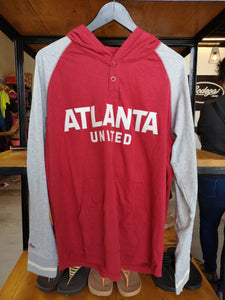 Mitchell & Ness Atlanta United FC Lightweight Pullover Hoodie/Heather Gray