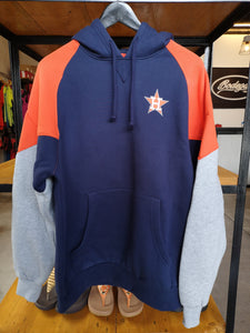 Mitchell & Ness Houston Astros Heavy Pullover Hoodie Logo Jacket/Navy Blue