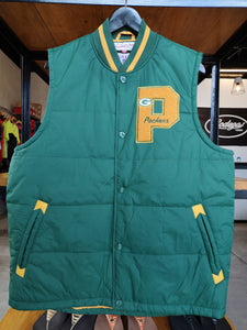 Mitchell & Ness Green Bay Packers Throwback Vest Jacket