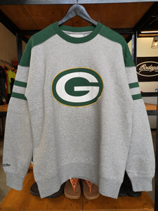 Mitchell & Ness Green Bay Packers Post Season Run Crew Neck Long Sleeve