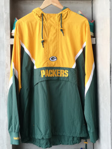 Mitchell & Ness Green Bay Packers Half Zip Jacket