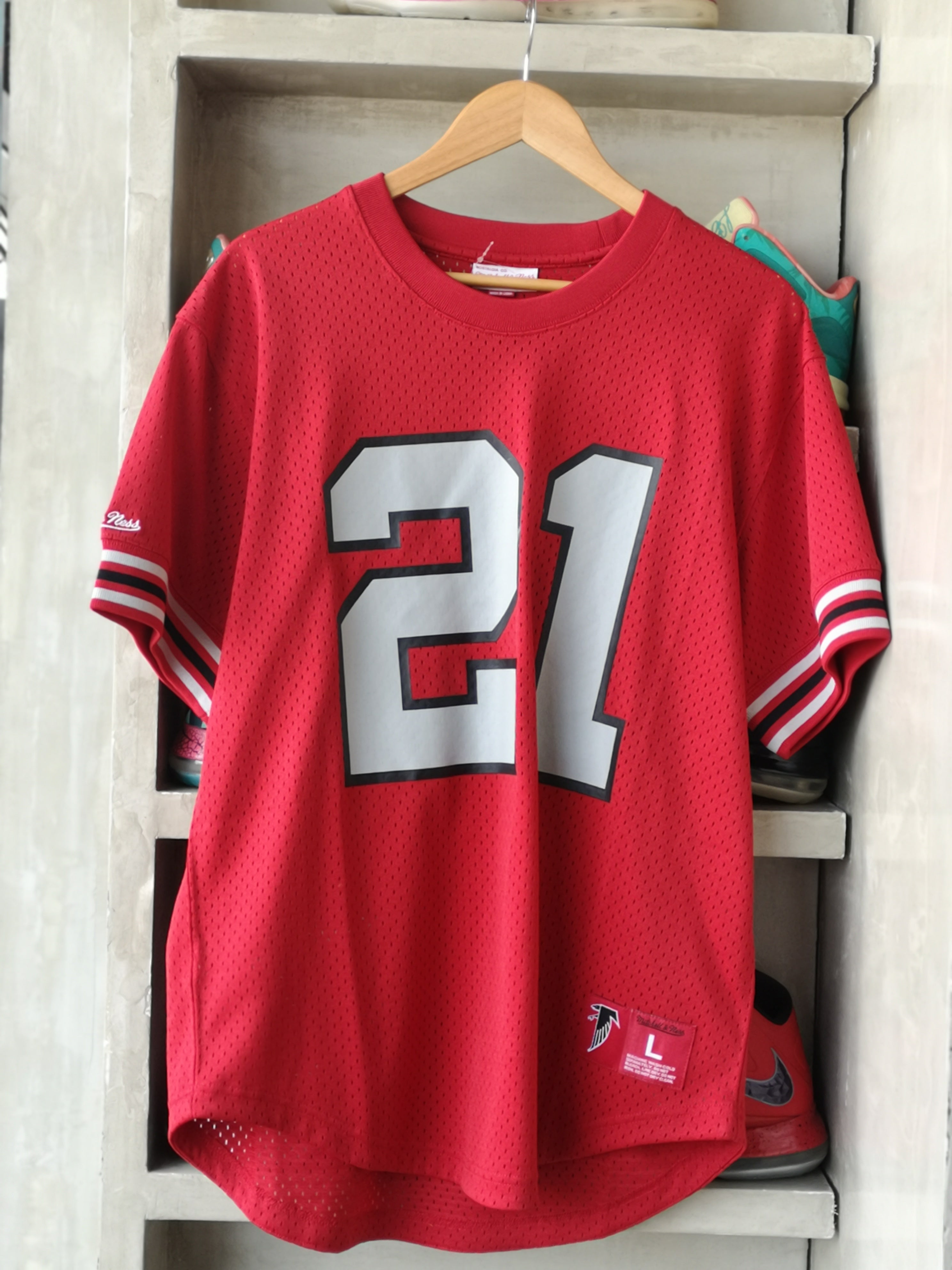Mitchell & Ness Atlanta Falcons Crew Neck Jersey Deion Sanders