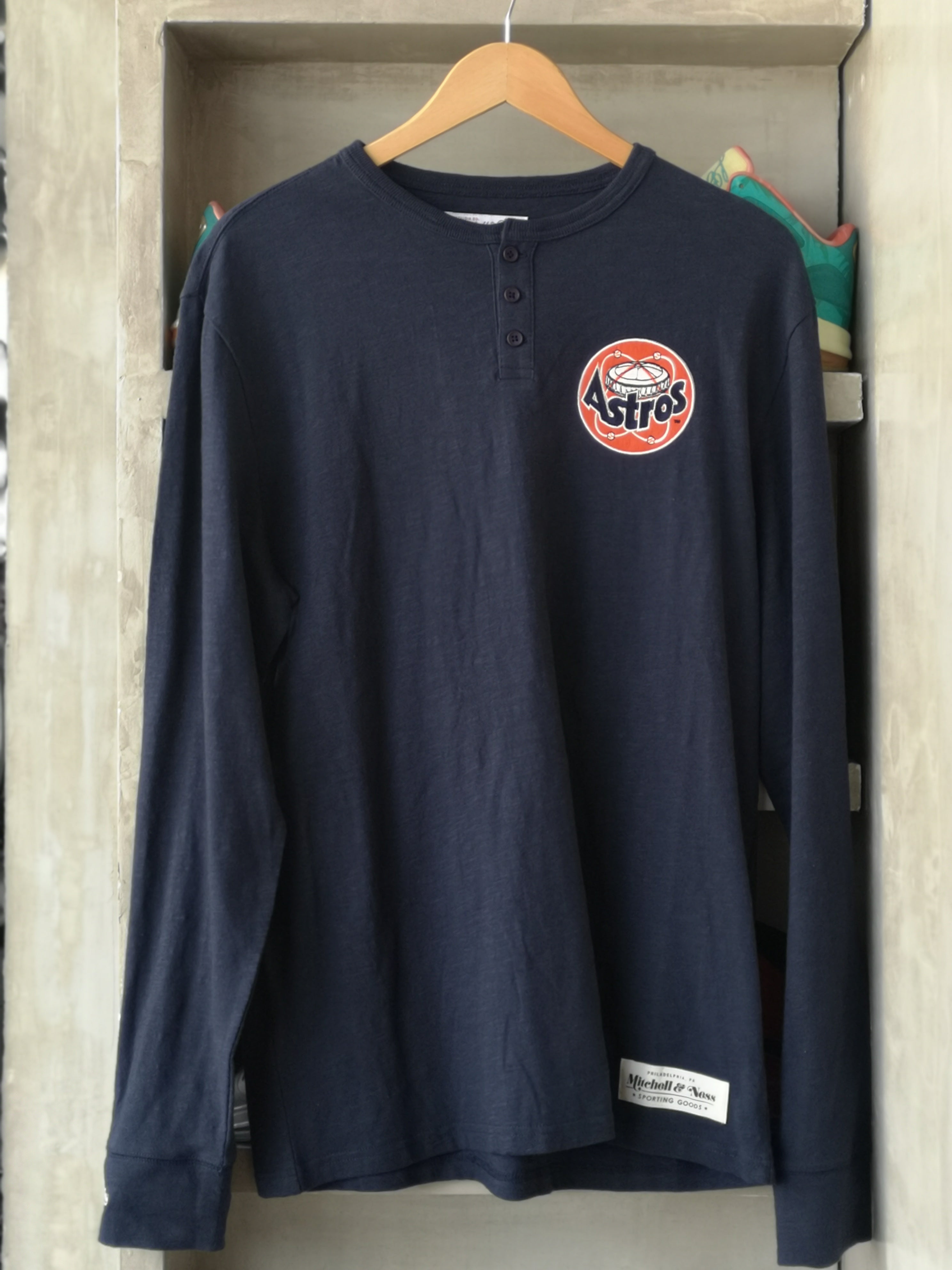 Mitchell & Ness Houston Astros Buttoned Long Sleeve First Round Pick