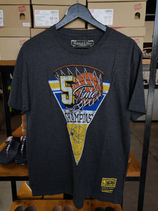 Mitchell & Ness GSW Shirt Pennant/Charcoal Heather