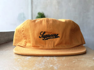 Supreme Script Logo Fitted Yellow S/S16
