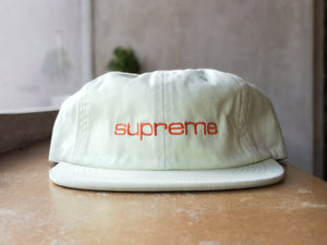 Supreme Classic Logo 6-Panel Cap Yellow Green