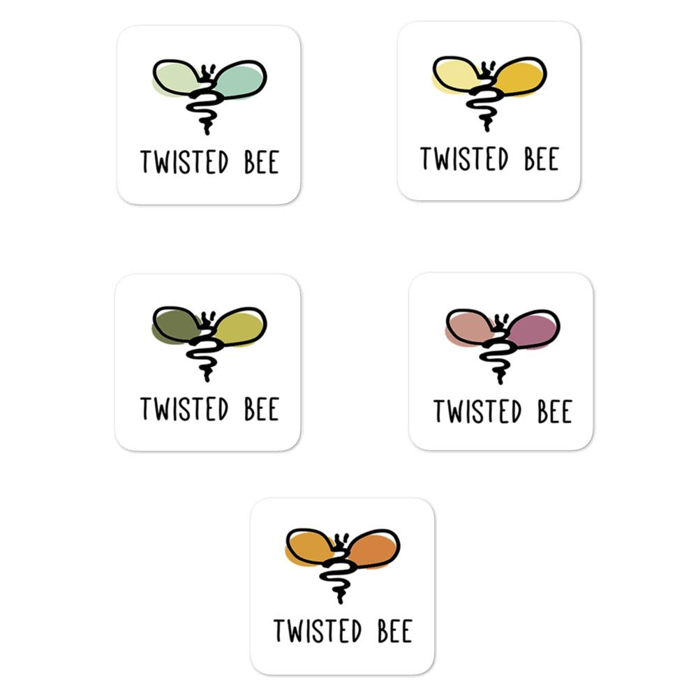 Bee Unique Stickers (5 Pack) Merch Twisted Bee 5.5x5.5