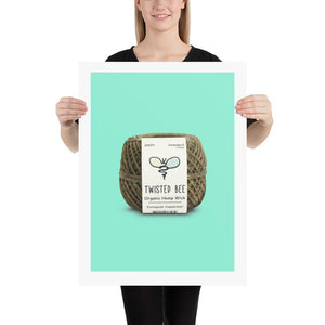 Hemp Wick Poster Poster Twisted Bee 18×24