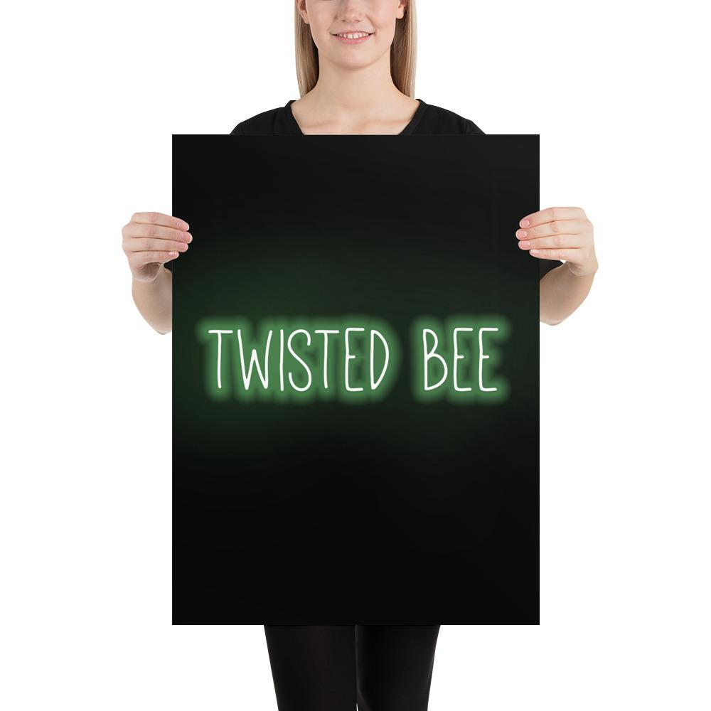 Neon Lights Poster Poster Twisted Bee 18×24
