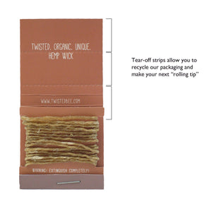 Organic Hemp Wick (5 Pocket Packs) Hemp Wick Twisted Bee