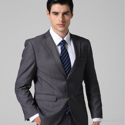 Gray suit men