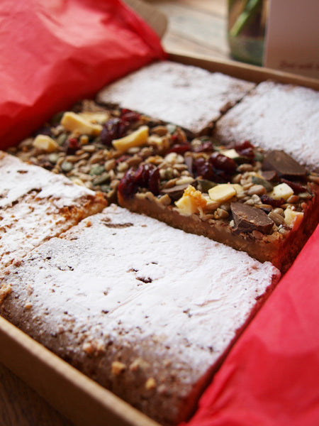 Lazy Cow Mix - A box packed with Hunky Brownies, Lucious Blondies and Squidgy Happy Slices
