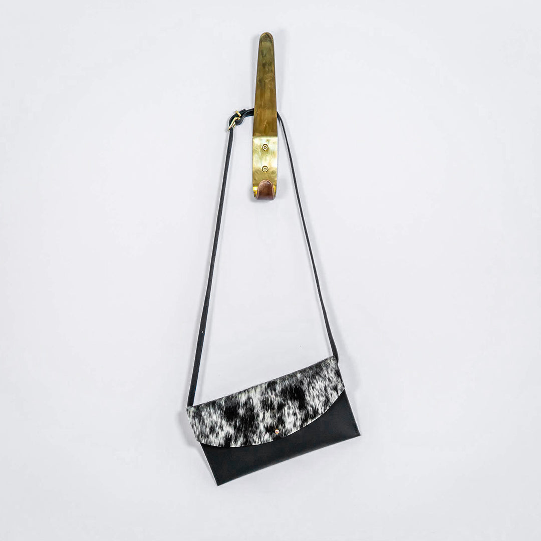 Convertible Hip Bag - Salt And Pepper Cowhide