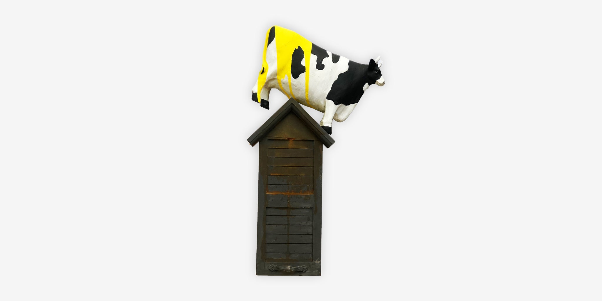 ART - THE PRESIDENT IS LIKE A COW ON TOP OF A HOUSE, NO-ONE CAN UNDERSTAND HOW SUCH AN ANIMAL GOT UP THERE.