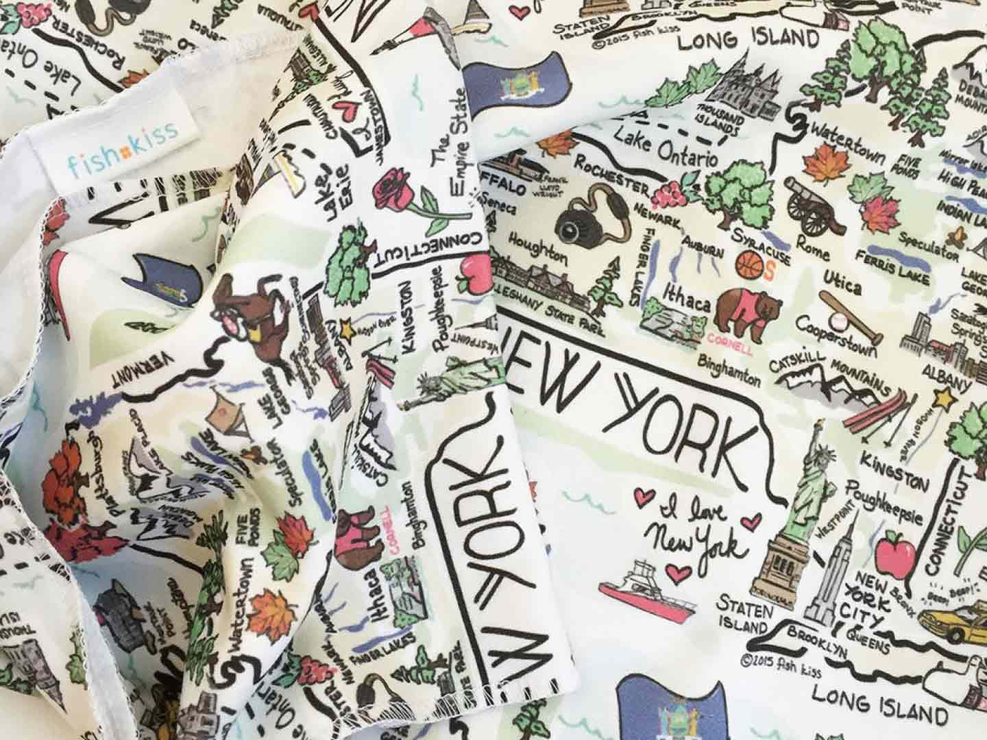 NYC map baby blanket