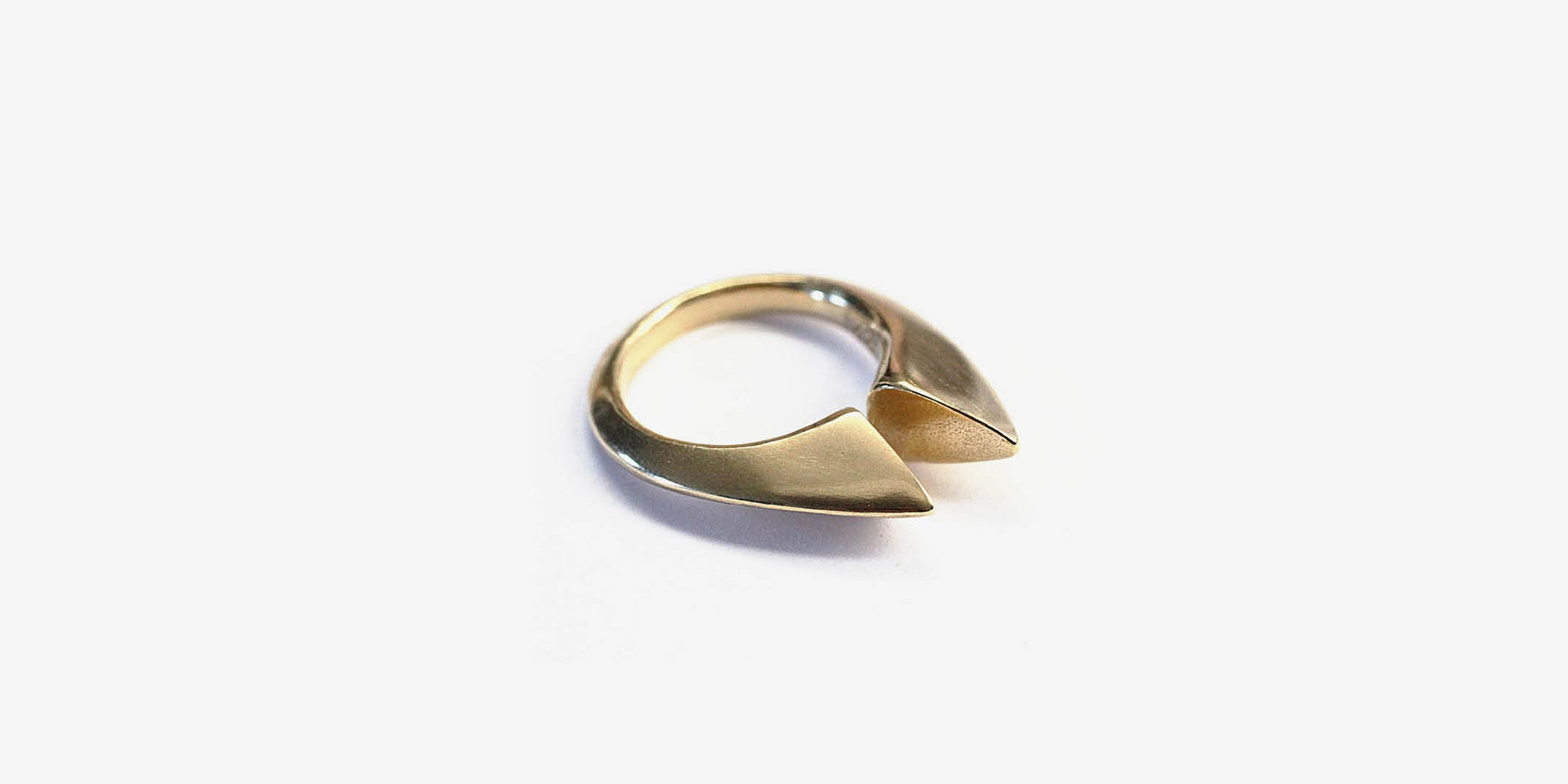 Double Peak Brass Ring