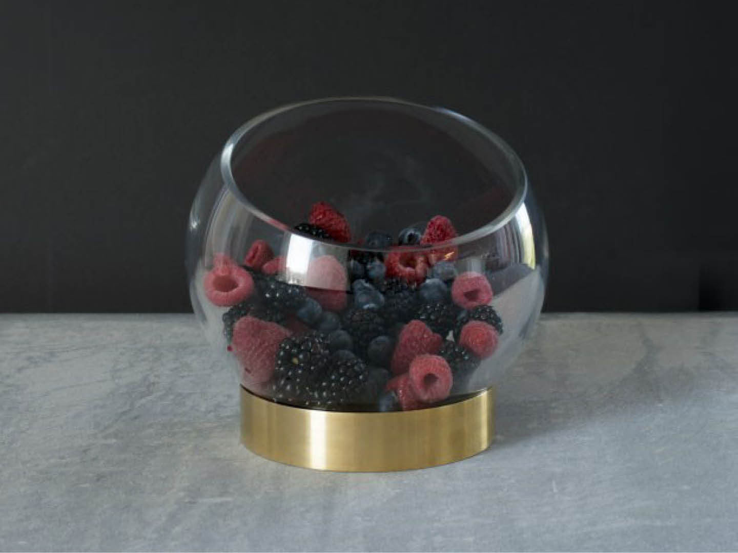 Orb Bowl Small with Brass Stand