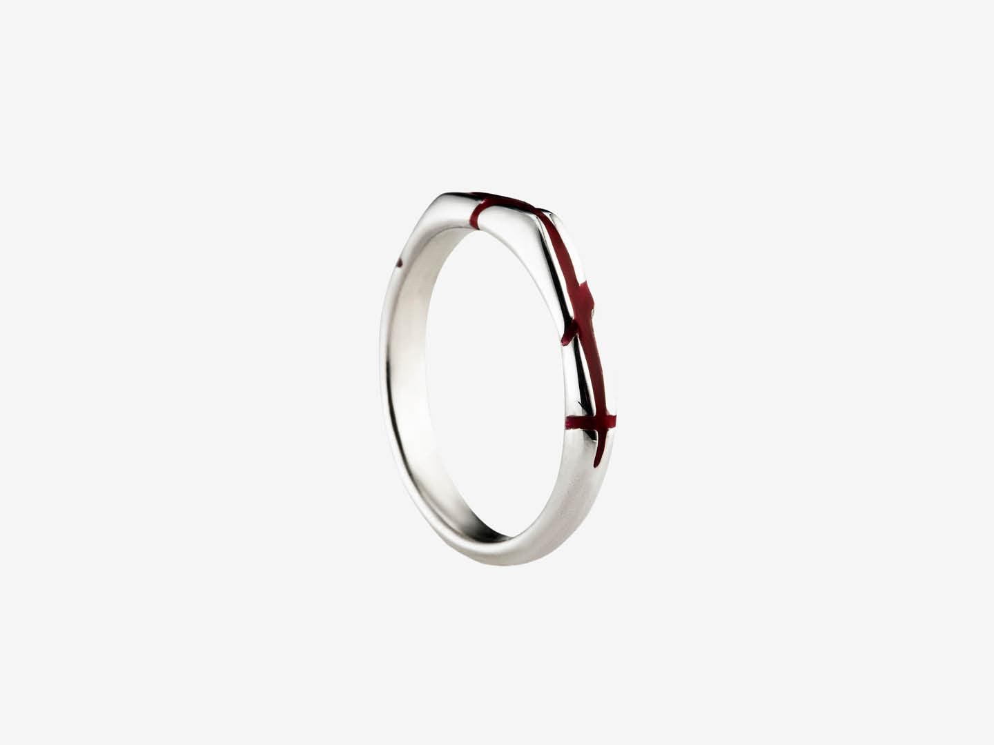 Orion Orient Red Sterling Silver Ring