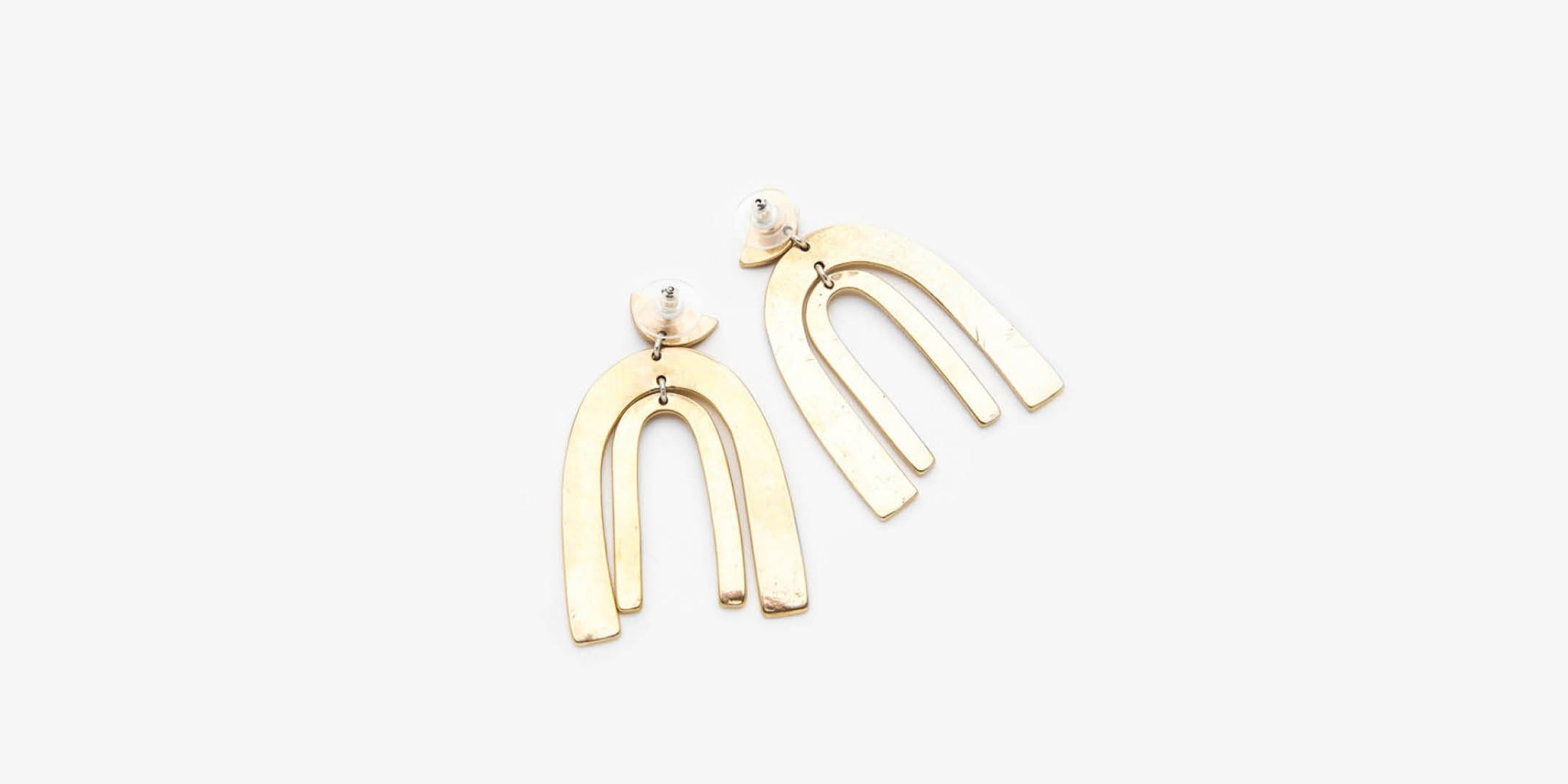 Belleza Brass Earrings