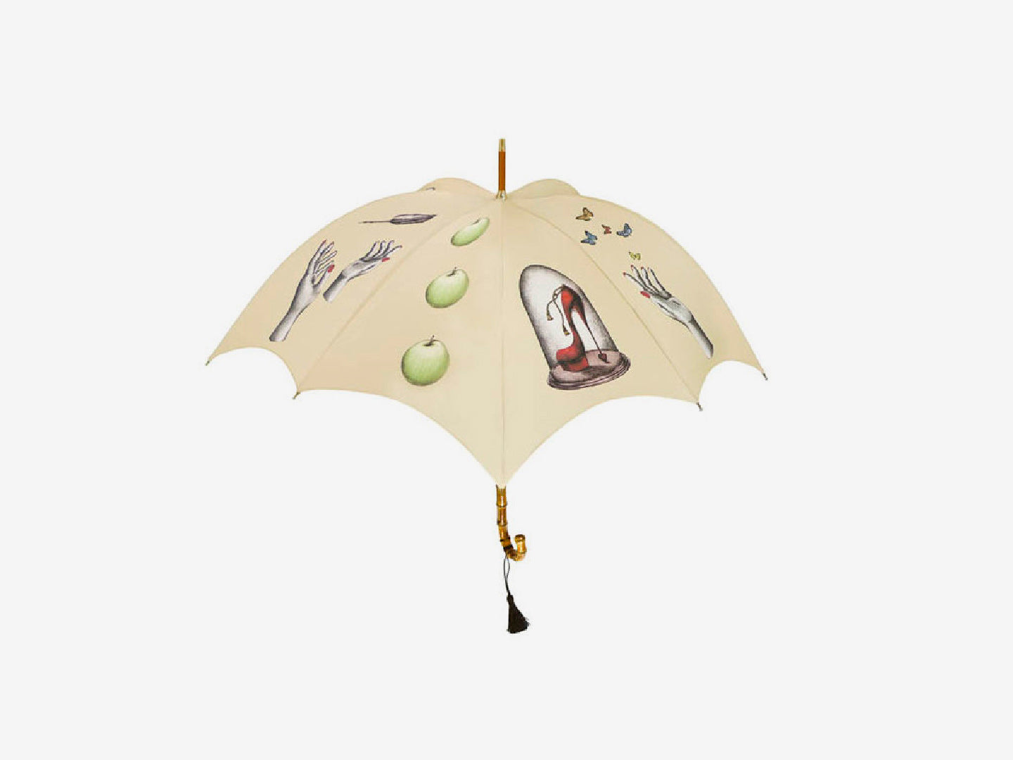 Curiosities Pumpkin Umbrella – pale beige