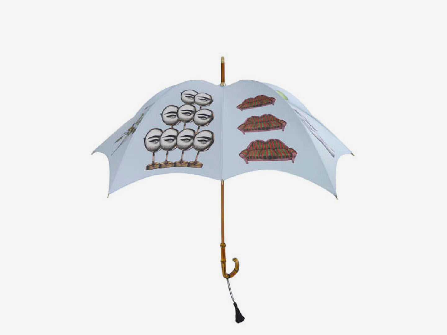 Curiosities Pumpkin Umbrella – pale blue