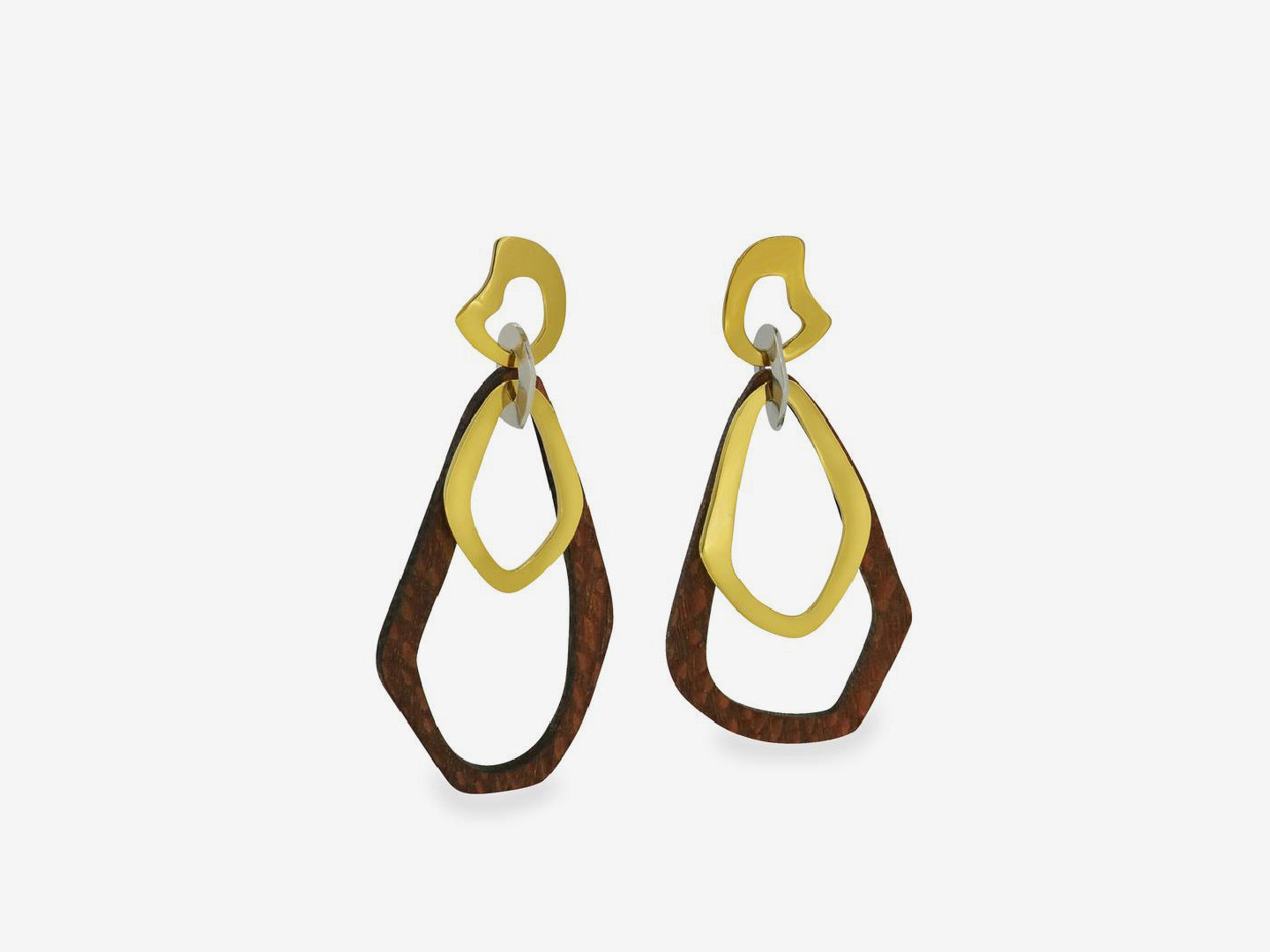 Dangle Leopard Large Wood Earrings