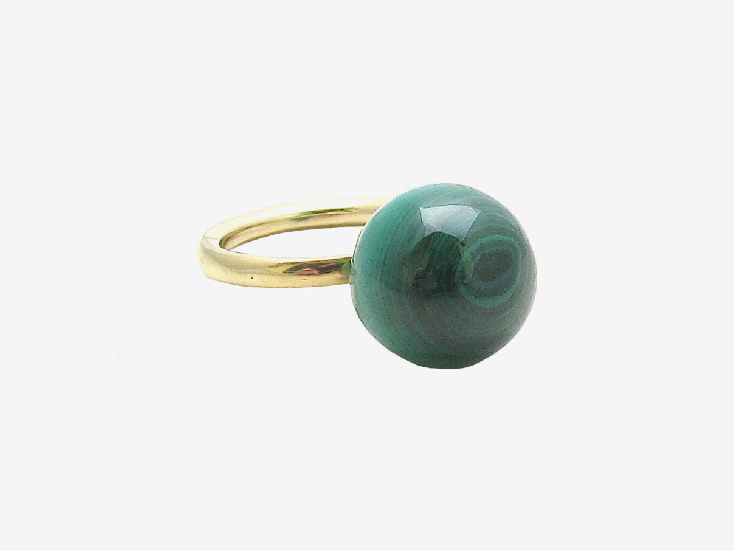 Globe Ring – malachite