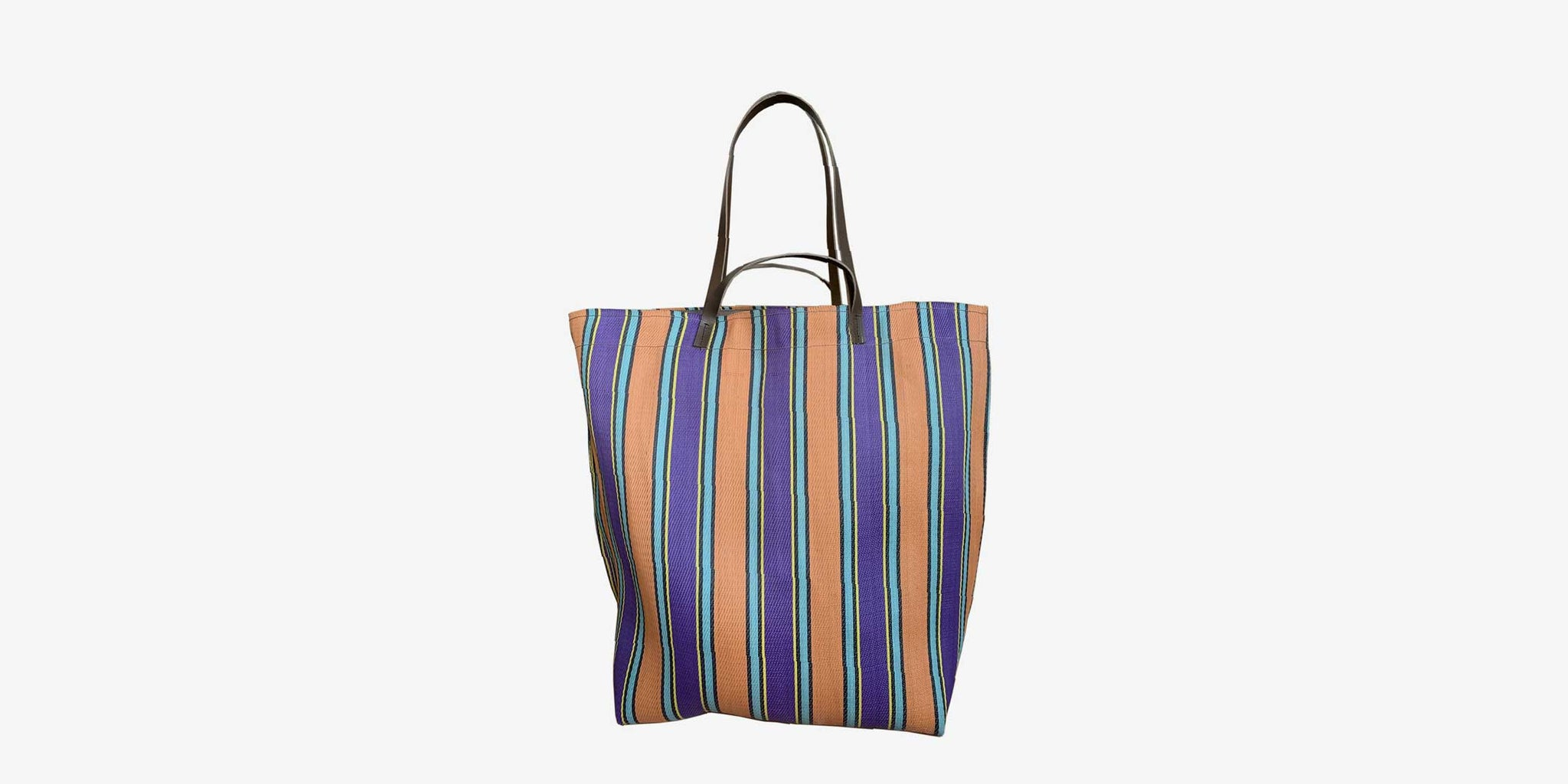 LG Assam Market Tote – purple/peach