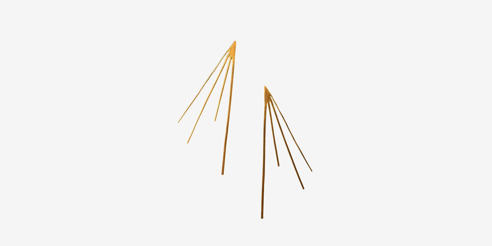 Large Flare Studs – brass