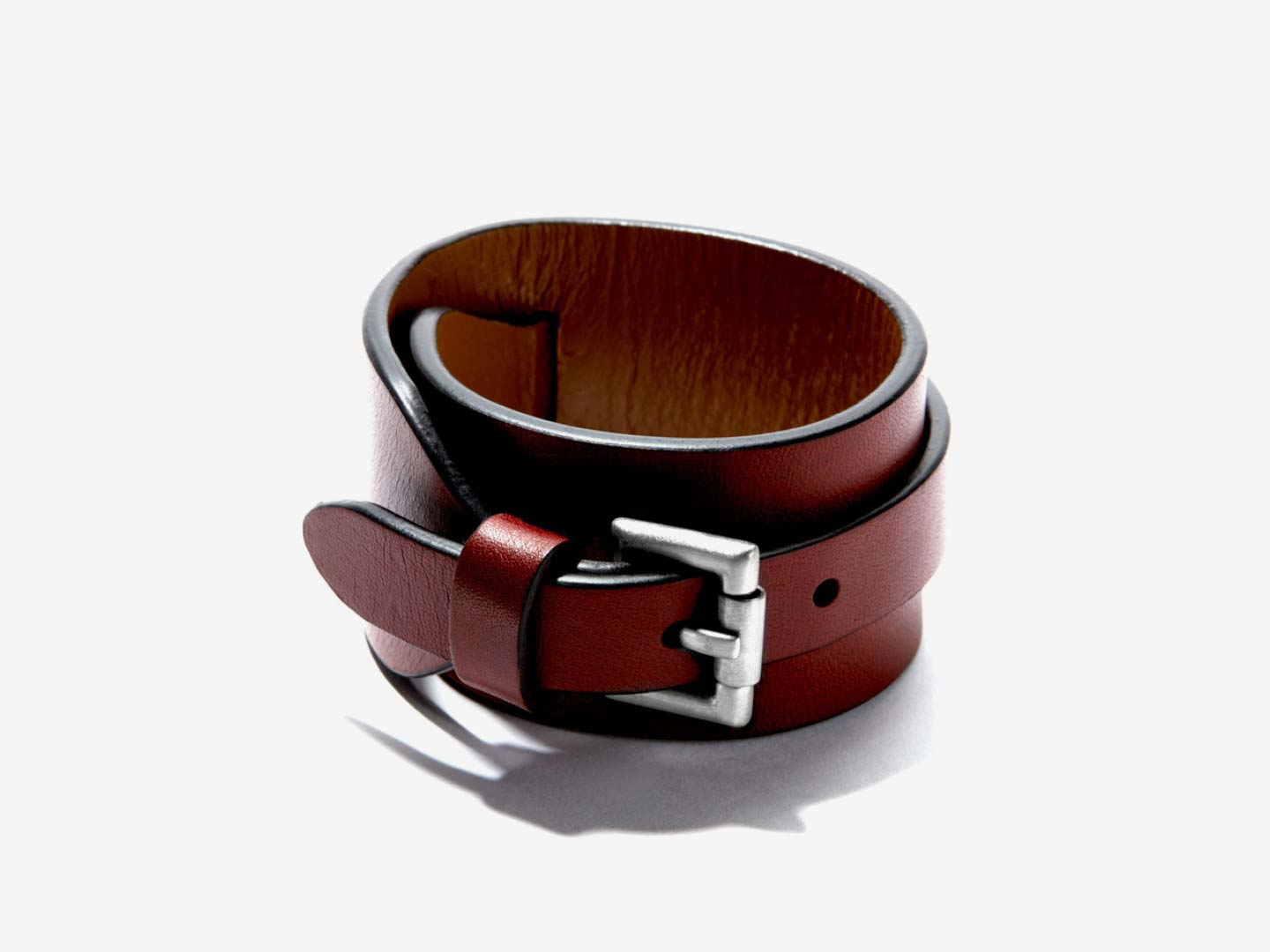 Cordovan butch leather cuff