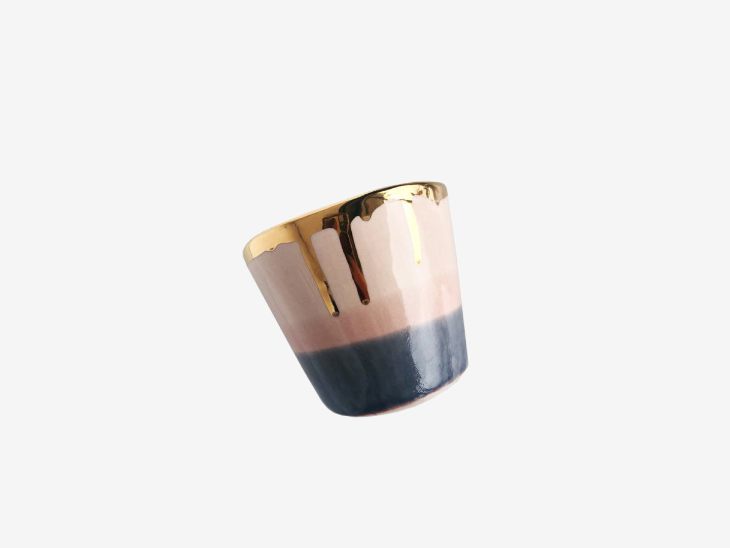 22k Gold Rim Sunset Tumbler