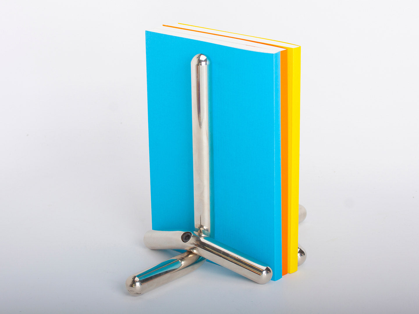 Cal Book Ends – nickel plated