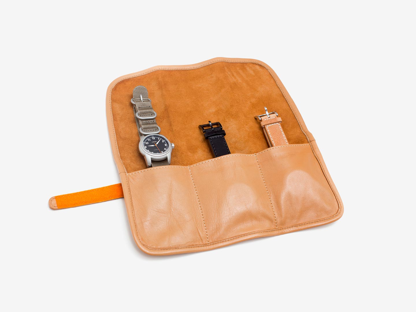 Leather Watch Travel Roll