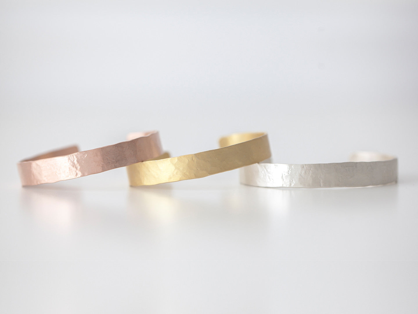 Metallurgy Wide Stacking Cuffs