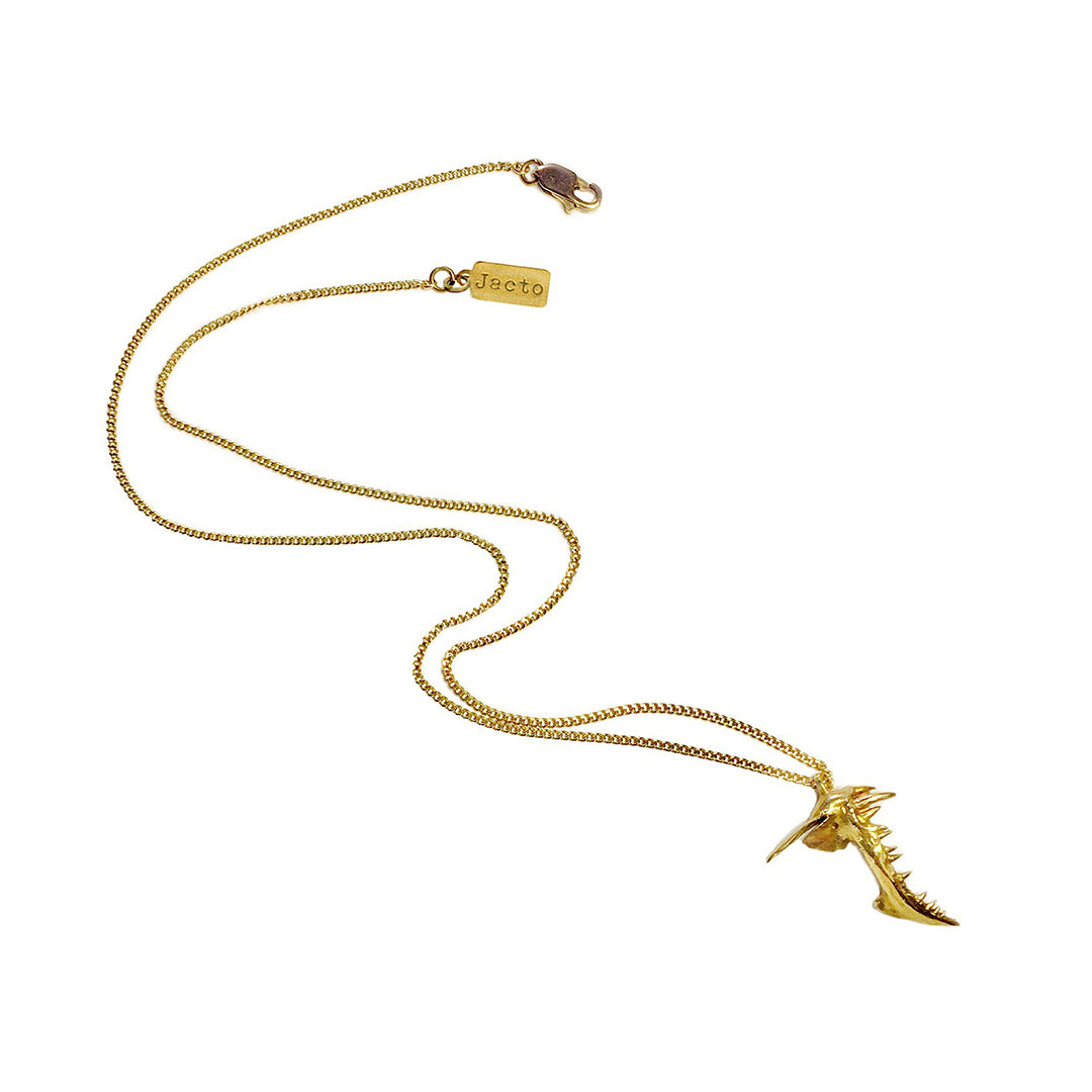 Micro Snapper Necklace - Polished Brass