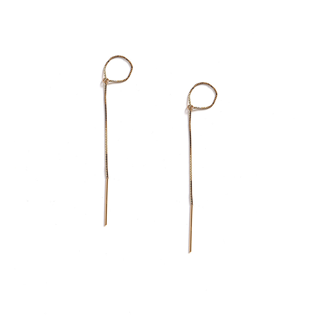Threader Tie Earrings 14k Gold Filled
