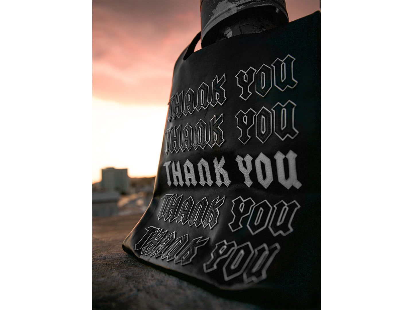 Thank You Leather Tote