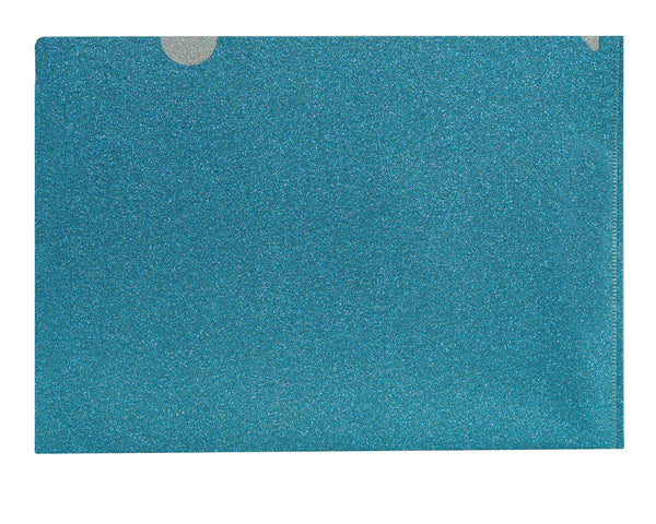 All About Blue Glitter Folder