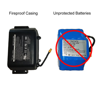 Hoverboard Battery - Fireproof - Safe Replacement UL2271 Certified