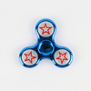 Plastic Chrome Fidget Spinner - Blue With Star