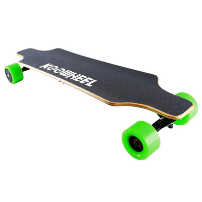 KooWheel D3M+ Edition Electric Skateboard Commuter Package, Green Wheels
