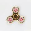 Plastic Chrome Fidget Spinner - Gold With Star