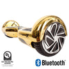 gold hoverboard with bluetooth
