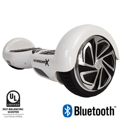 white hoverboard with bluetooth