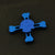 Metal Skull Fidget Spinner - Blue