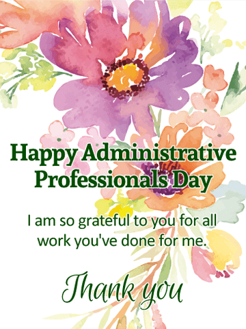 Administrative Professionals' Day -Wednesday, April 21, 2021