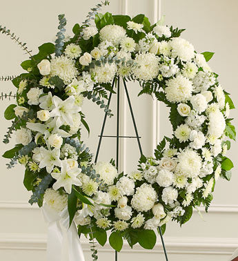 Sympathy - Standing Spays & Wreaths White