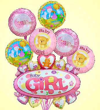 Baby Girl/Boy Marquee Mylar Bundle