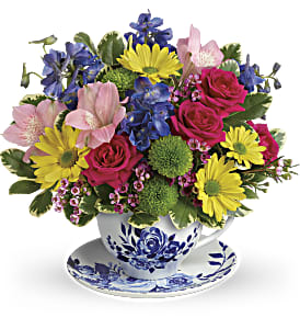 Dutch Garden Tea Cup Bouquet