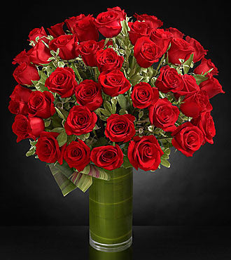 Luxury Red Rose Bouquet - 48 Stems